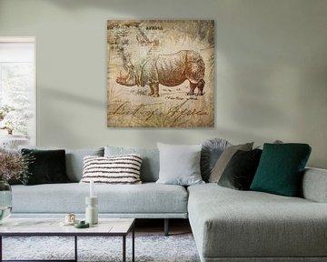 Vintage Nashorn von Andrea Haase