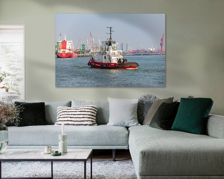 Sfeerimpressie: Sleepboot Texelbank Rotterdam. van Brian Morgan