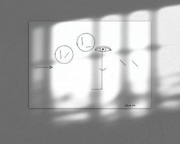 Der Strich sieht 2 Kreise von Johann Bucher