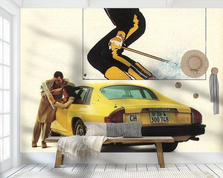 Sfeerimpressie behang: Vintage advertentie 1978 JAGUAR XJ-S van Jaap Ros