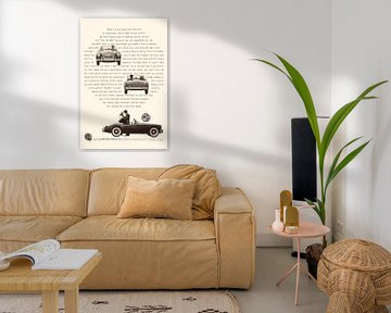Vintage advertentie 1960 MG van Jaap Ros