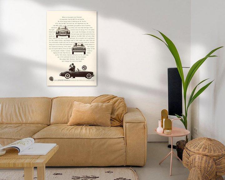Beispiel: VINTAGE WERBUNG MG 1960 von Jaap Ros