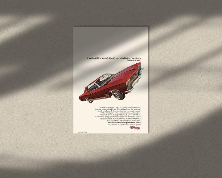 Beispiel: VINTAGE WERBUNG 1965 BUICK RIVIERA GRAN SPORT von Jaap Ros