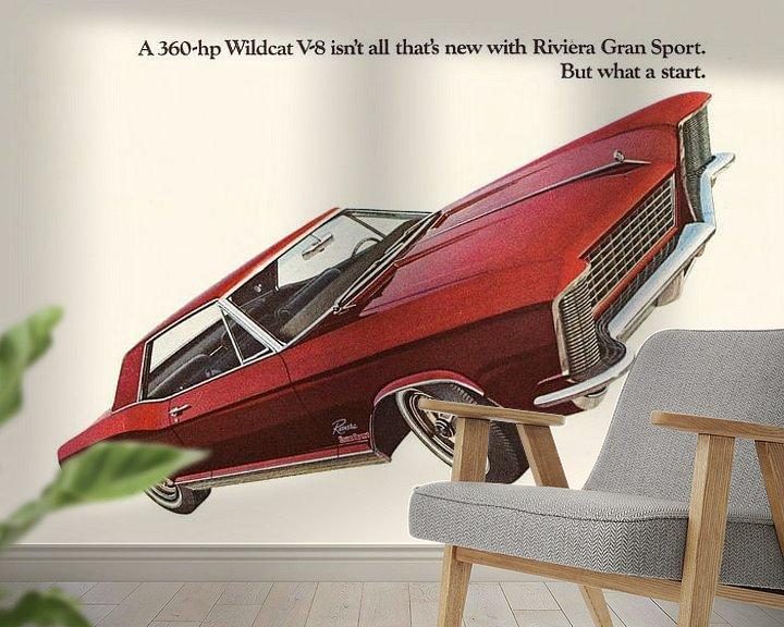 Beispiel fototapete: VINTAGE WERBUNG 1965 BUICK RIVIERA GRAN SPORT von Jaap Ros