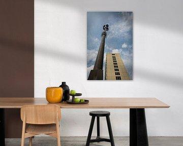 Toren en lichtmast van de Bijlmerbajes von Yannick uit den Boogaard