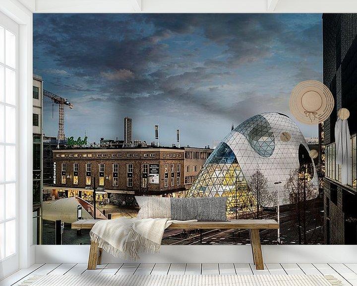 Sfeerimpressie behang: De Blob van Sandra Kuijpers