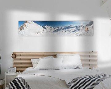Sneeuwlandschap - Fulpmes - Stubai - Tirol van Erik van 't Hof