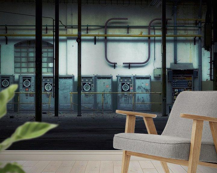 Sfeerimpressie behang: Abstract industrial van Rigo Meens