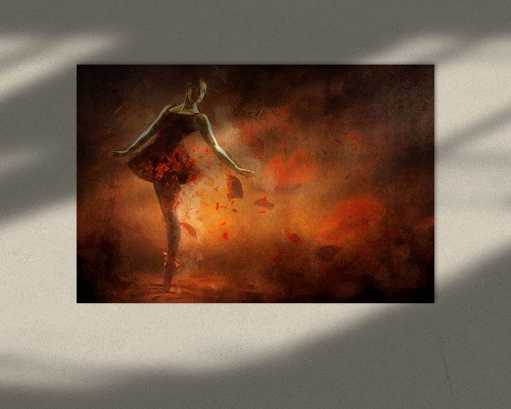 Sfeerimpressie: Geschilderde Rode Ballerina van Arjen Roos
