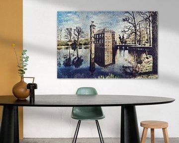 Kasteel Bouvigne in Breda (schilderij) van Art by Jeronimo