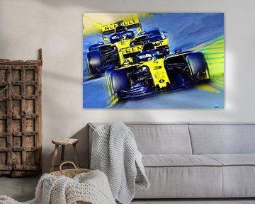 Teammates Ricciardo #3 & Hülkenberg #27 von Jean-Louis Glineur alias DeVerviers