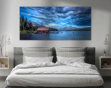 Maligne Lake van Dennis Werkman