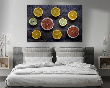 Citrusfruit | Stilleven van Laura Maessen