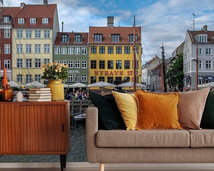 Sfeerimpressie behang: København | Nyhavn van Laura Maessen