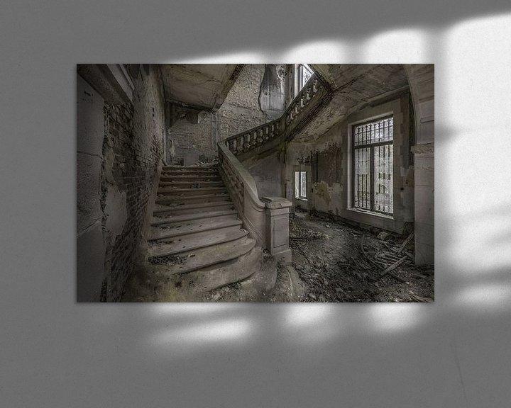 Beispiel: Trappenhal in vervallen ruïne von Kristel van de Laar