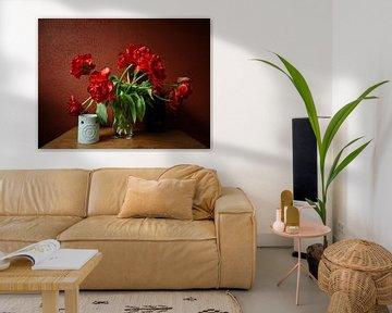 Rode tulpen van Erik Reijnders