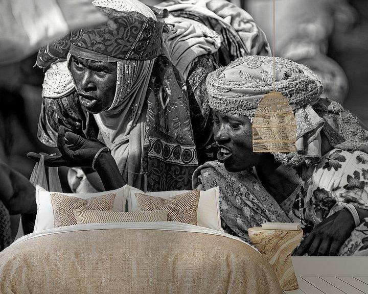 Sfeerimpressie behang: afrikaanse vrouwen van rene schuiling