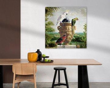 All Parrots and Pinapple sur Marja van den Hurk