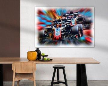 Teammates - Kevin Magnussen and Romain Grosjean von Jean-Louis Glineur alias DeVerviers