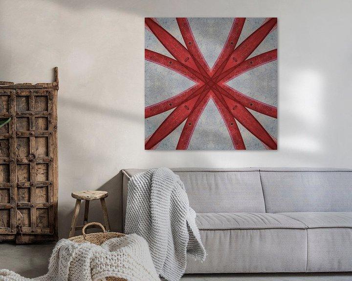 Sfeerimpressie: Rode symmetrie van Cor Ritmeester