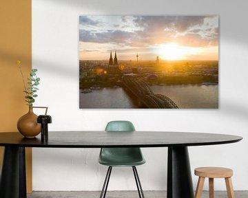 Köln mit dem Dom bei Sonnenuntergang von Werner Dieterich