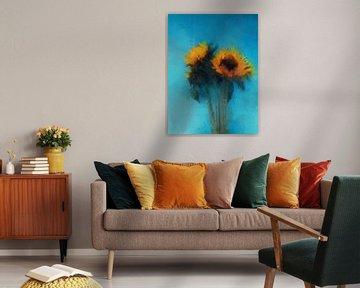 Zonnebloemen 2 van Yolanda Bruggeman