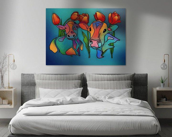 Beispiel: Koeien en Tulpen 2 von Yolanda Bruggeman