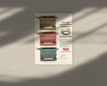 Vintage advertentie 1955 typemachine van Jaap Ros