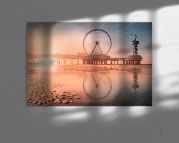Zonsondergang bij de pier