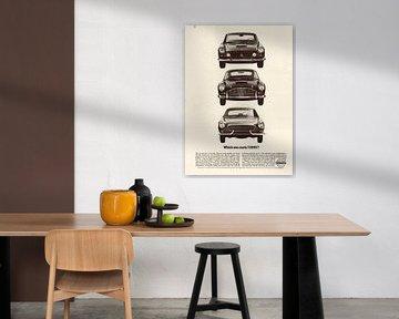 Vintage advertentie 1964 Volvo Ferrari Aston Martin van Jaap Ros