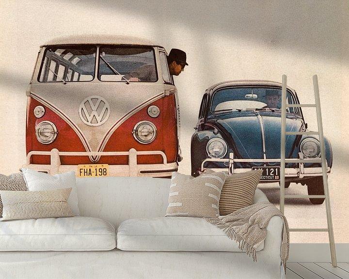 Beispiel fototapete: Oldtimer VW Anzeige 1964 von Jaap Ros