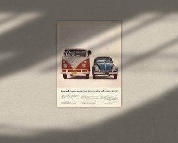 Vintage VW Advertentie 1964 van Jaap Ros