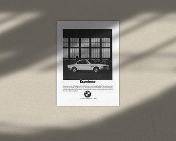 Vintage advertentie 1970 BMW 2800 CS Coupe van Jaap Ros