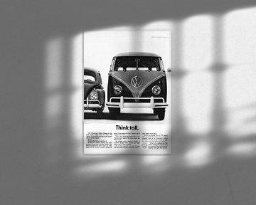 Vintage advertentie 1961 VW van Jaap Ros