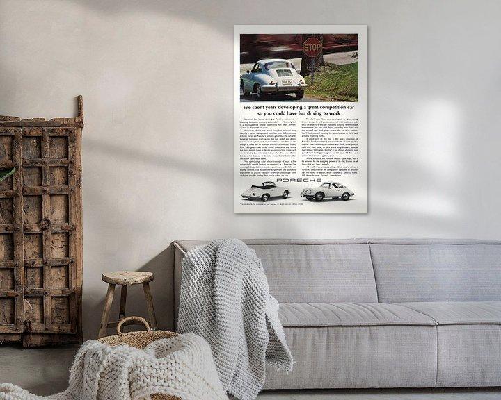 Beispiel: Werbung 1965 Porsche convertible coupe von Jaap Ros