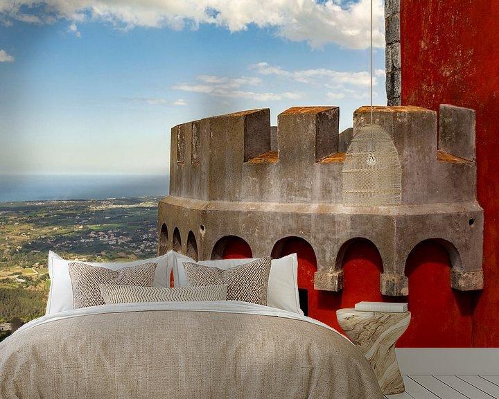 Sfeerimpressie behang: De Rode Toren van Ton de Koning
