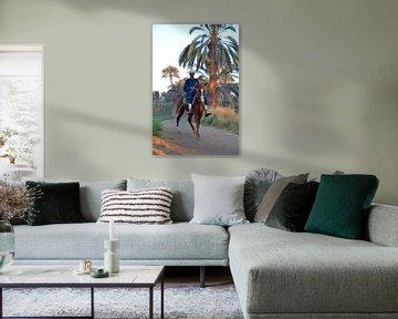 Egyptische boer te paard van Ellinor Creation