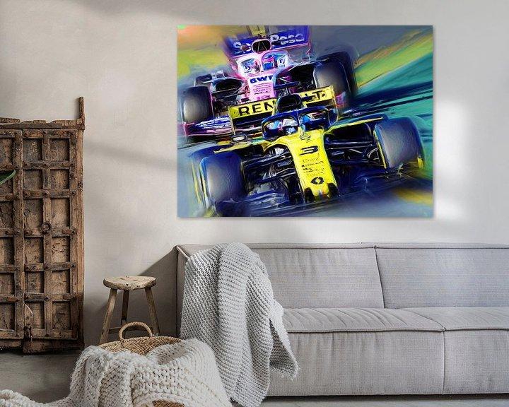 Beispiel: Daniel Ricciardo #3 von Jean-Louis Glineur alias DeVerviers
