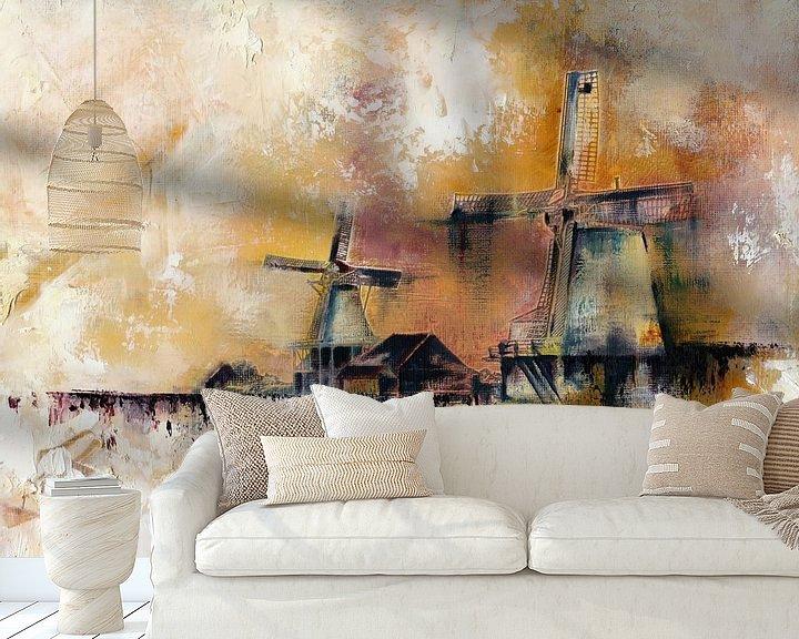 Beispiel fototapete: Windmühlen von Maria Kitano
