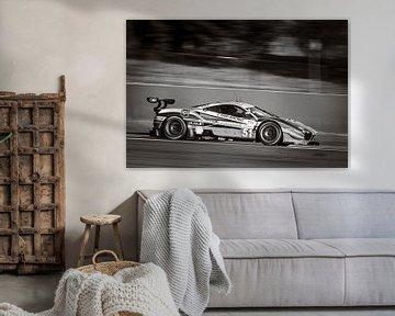 AF Corse Ferrari 488 GTE racewagen met hoge snelheid van Sjoerd van der Wal