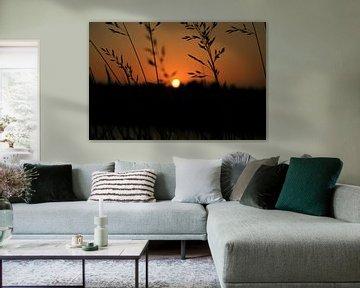 Zonsondergang Woerden von Christiaan Klompstra
