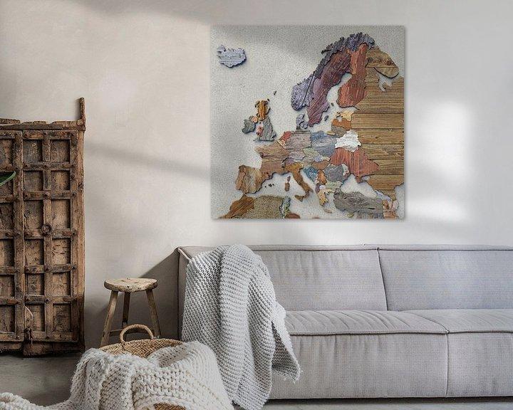 Beispiel: Holzkarte Europa von Frans Blok