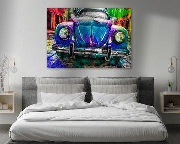 Künstlerisches Auto Volkswagen Käfer von De nieuwe meester