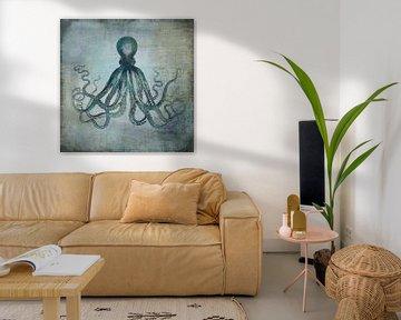 Deep Sea Ocotopus van Andrea Haase