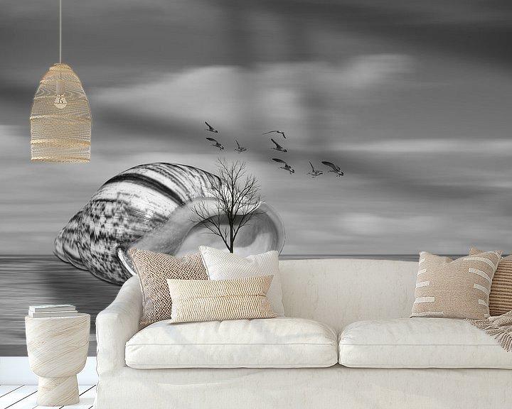 Sfeerimpressie behang: Seashell on the beach van Ursula Di Chito