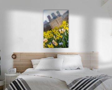 Mauritshuis Den haag bij schemering met skyline van Erik van 't Hof