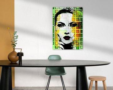 Lady in squares van PictureWork - Digital artist