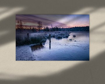 Feuer und Eis bei Sonnenaufgang von Samantha Schoenmakers