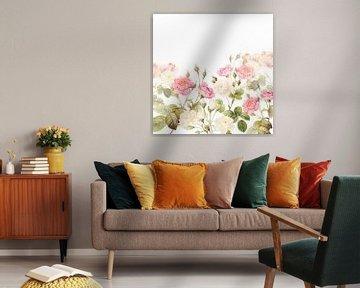 Vintage - Alte Pink Englische Rosen von Uta Naumann