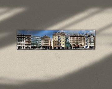 Leipzig Petersstraße Streetline von Panorama Streetline